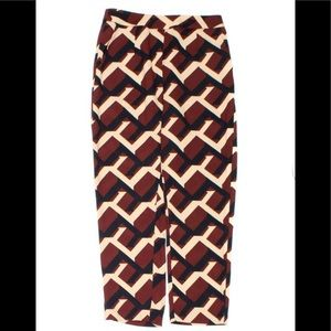 Lulus bold graphic print side zip pants size small